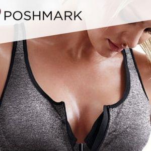 Gray/black Victoria secret sports bra